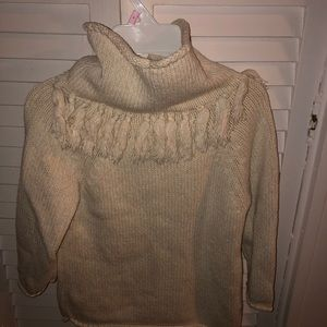 Tea collection girls cowl-neck ivory sweater